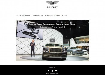 Bentley Livestreaming