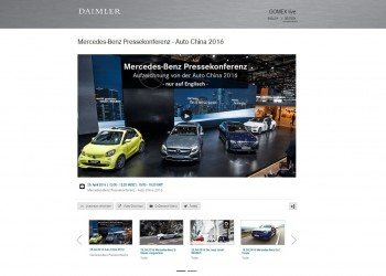 Daimler Livestreaming / Mercedes-Benz Livestreaming
