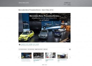 Daimler Livestreaming / Mercedes-Benz Livestreaming