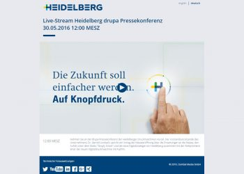 Heidelberger Druckmaschinen AG Livestreaming