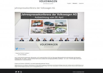 Volkswagen AG Livestreaming