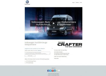 Volkswagen Nutzfahrzeuge Livestreaming