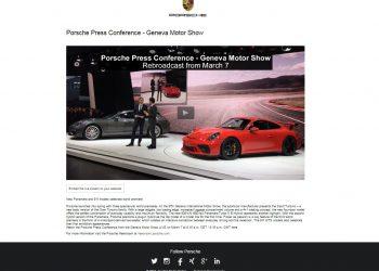Porsche Livestreaming