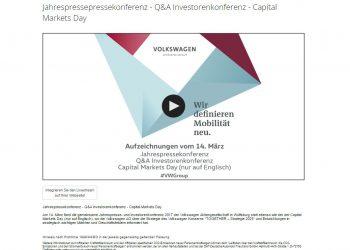 Volkswagen AG Livestreaming