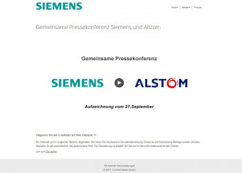 Siemens & Alstom Livestreaming